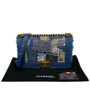Bolsa Chanel Boy Denim Patchwork